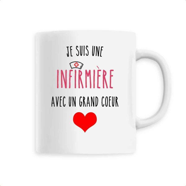 Mug infirmière - Je suis une infirmière avec un grand cœur