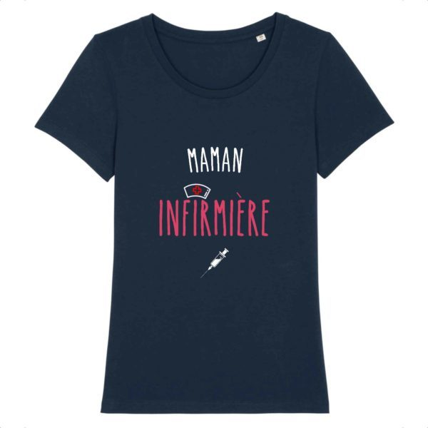 T-shirt maman infirmière bleu marine