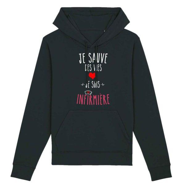 Sweat infirmière - Je sauve des vies je suis infirmière noir