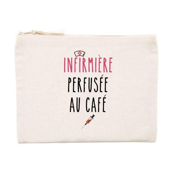 Pochette infirmière - Infirmière perfusée au café
