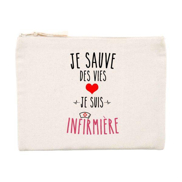 Pochette infirmière - Je sauve des vies je suis infirmière