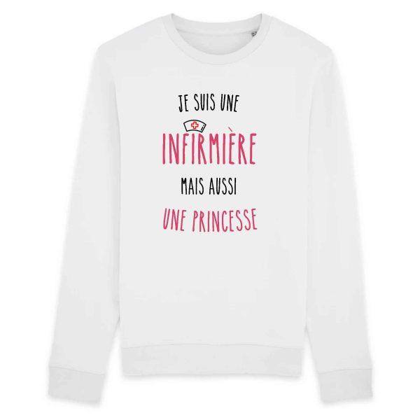 pull infirmière - Je suis une infirmière mais aussi une princesse_blanc