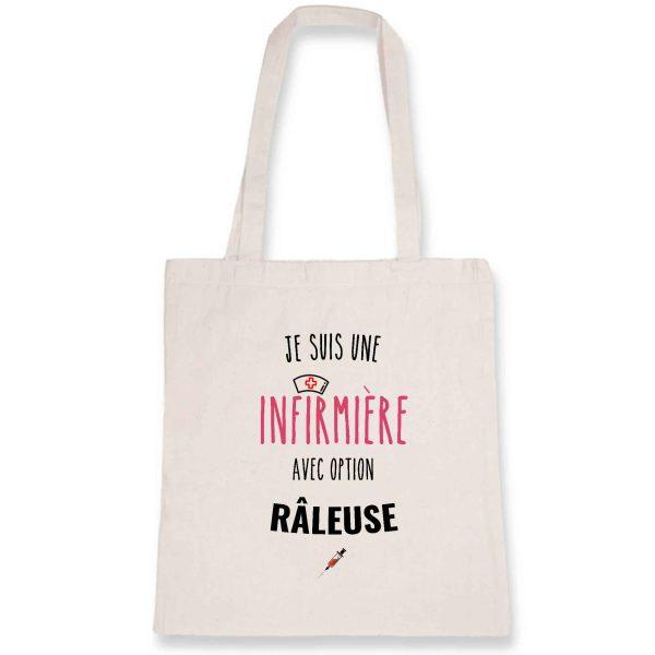 Tote bag infirmière - Je suis une infirmière avec option râleuse