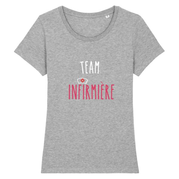 T-shirt infirmière - Team infirmière_gris