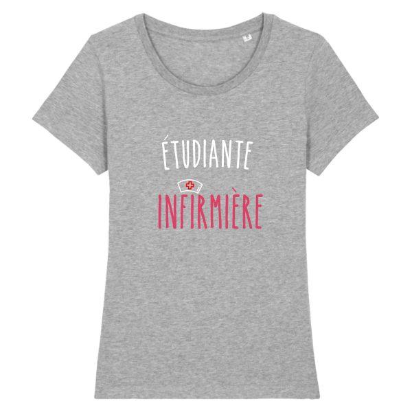 T-shirt infirmière - étudiante infirmière_gris