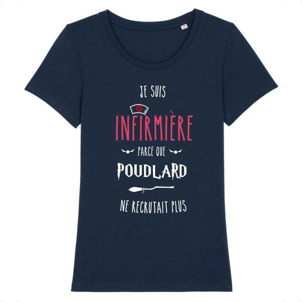 T-shirt Infirmière - Je suis infirmière parce que Poudlard ne recrutait plus_marine
