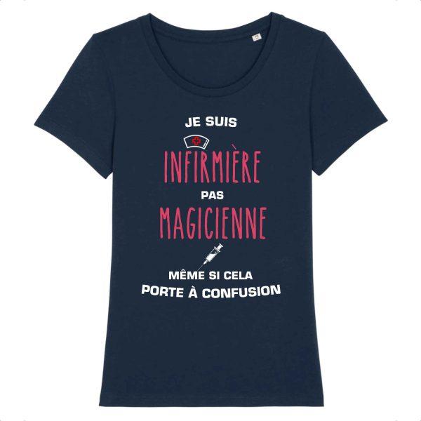 T-shirt infirmière - Je suis infirmière pas magicienne, même si cela porte à confusion_marine