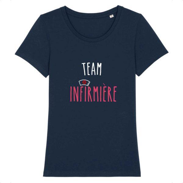 T-shirt infirmière - Team infirmière_marine