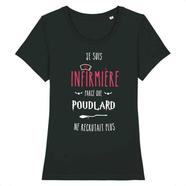 T-shirt Infirmière - Je suis infirmière parce que Poudlard ne recrutait plus_noir