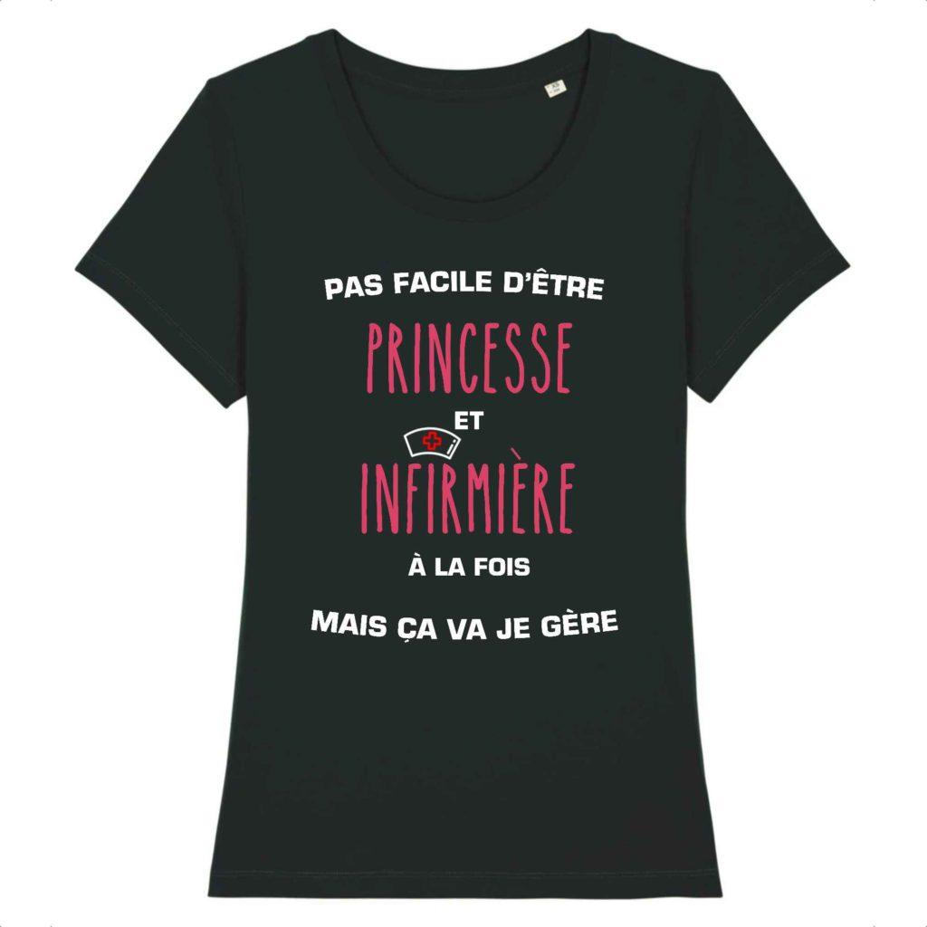 T-shirt infirmière - Pas facile d'être princesse et infirmière à la fois mais ça va je gère