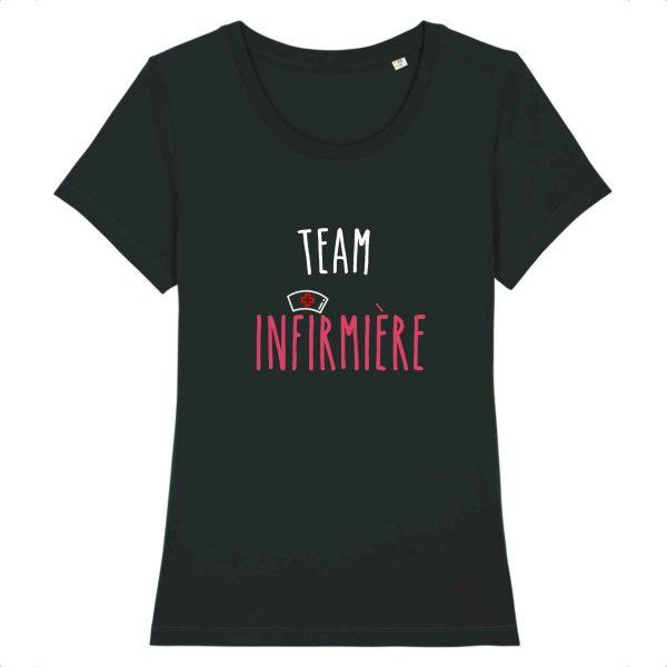 T-shirt infirmière - Team infirmière_noir