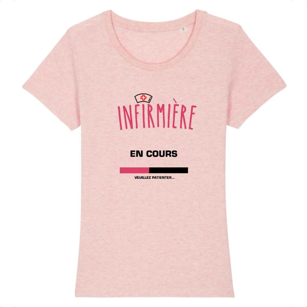 T-shirt infirmière – Infirmière en cours veuillez patienter