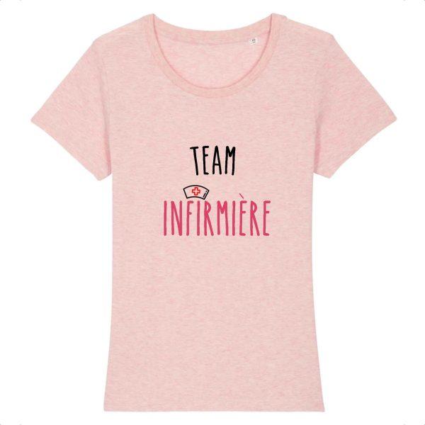 T-shirt infirmière - Team infirmière_rose