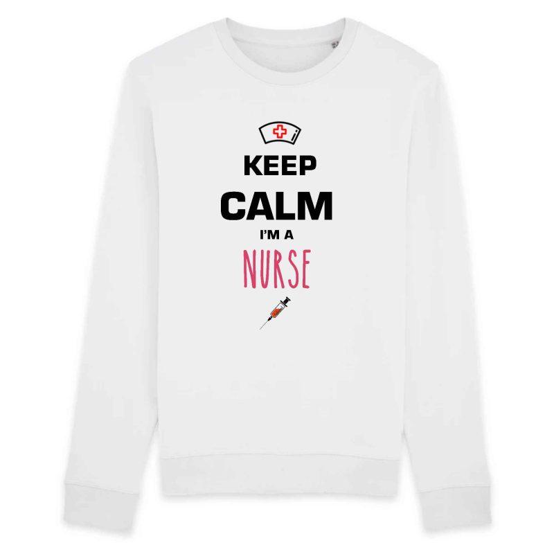 Pull infirmière - Keep calm I'm a nurse_blanc