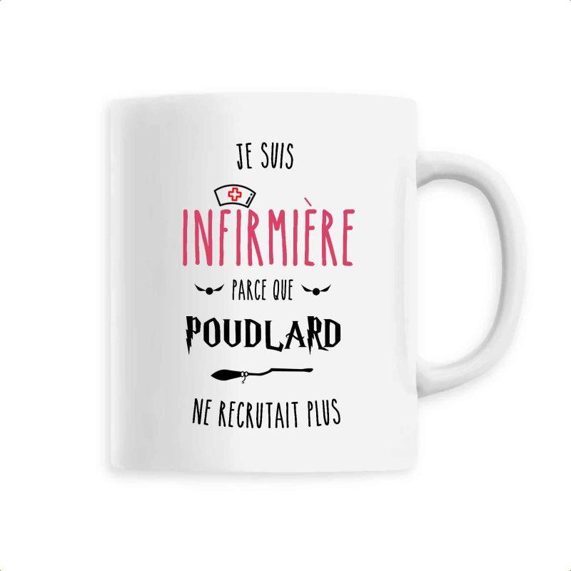 Mug infirmière - Je suis infirmière parce que Poudlard ne recrutait plus