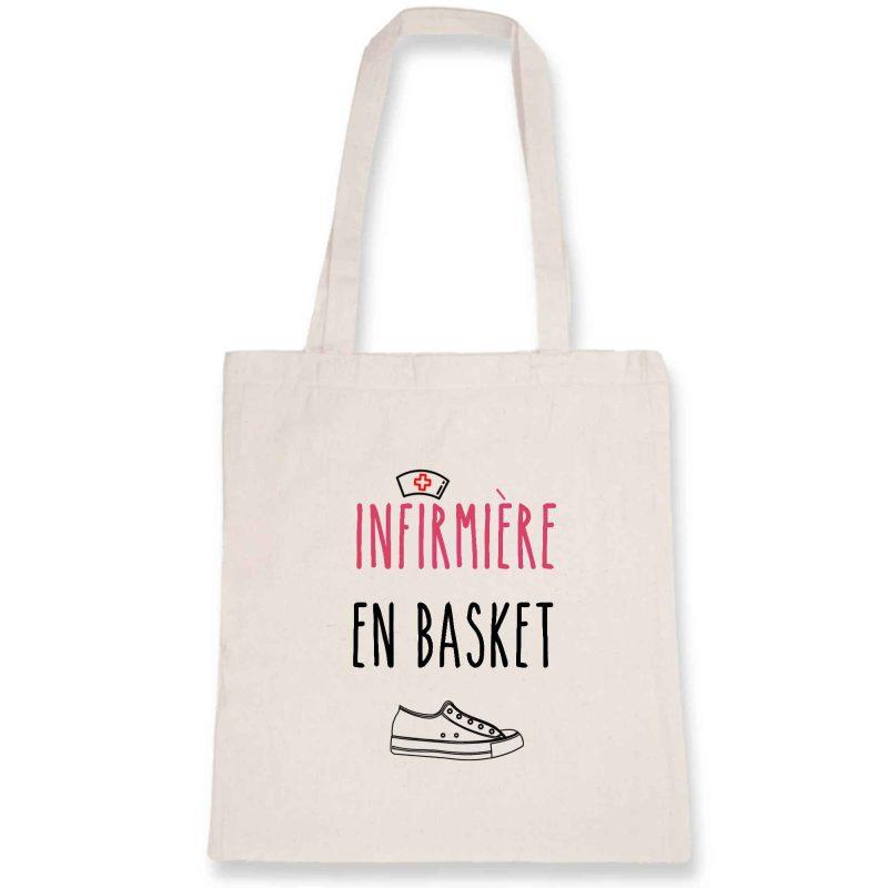 Tote bag infirmière - infirmière en basket