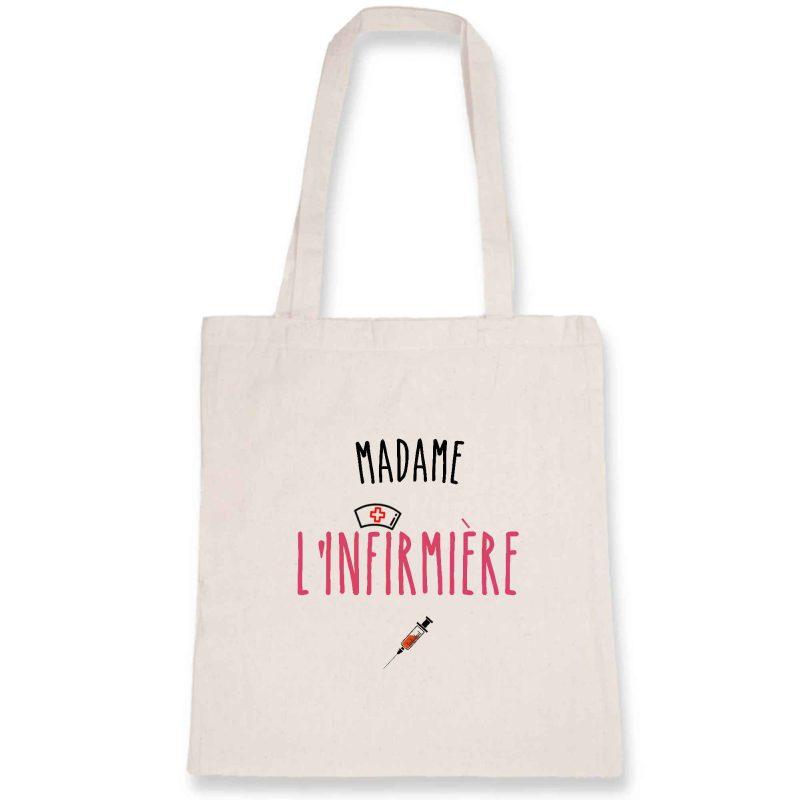 Tote bag infirmière - Madame l'infirmière