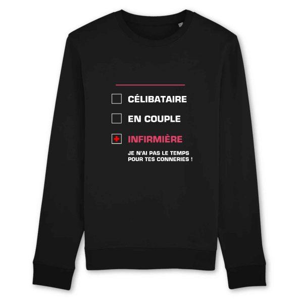 Pull infirmière - Infirmière célibataire_noir
