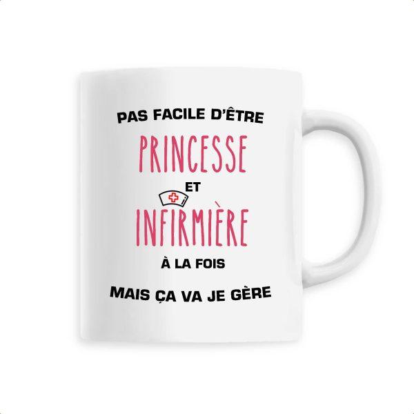 Mug infirmière - Pas facile d'être princesse et infirmière à la fois mais ça va je gère