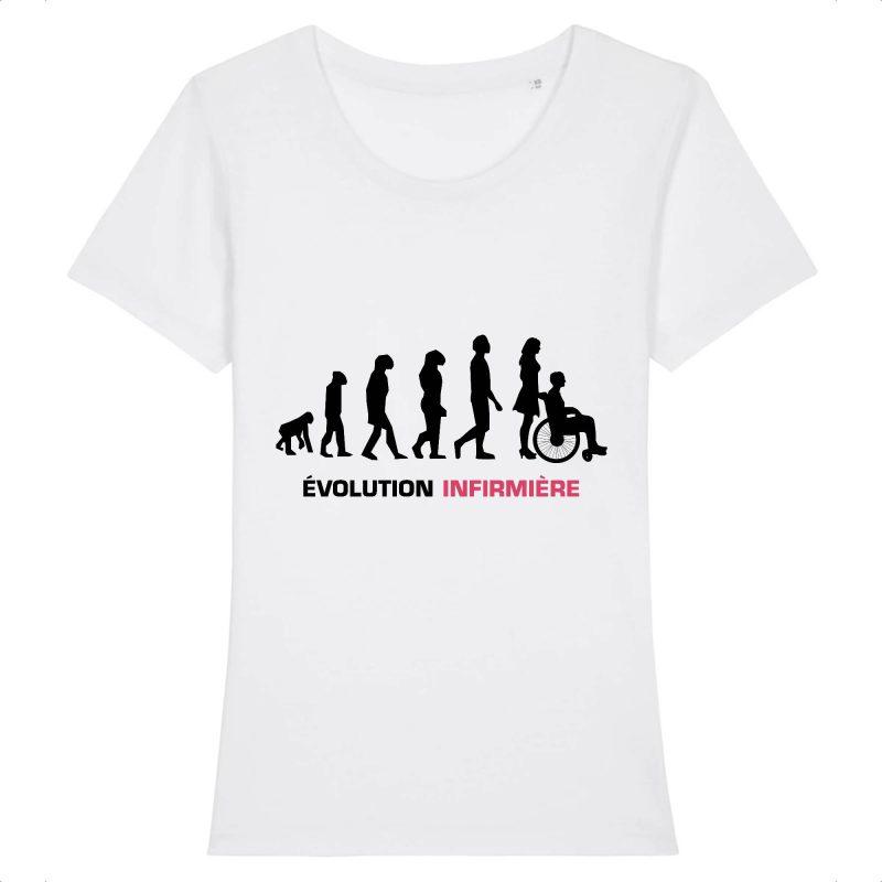 T-shirt infirmière - évolution infirmière