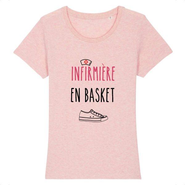 T-shirt infirmière – Infirmière en basket-rose