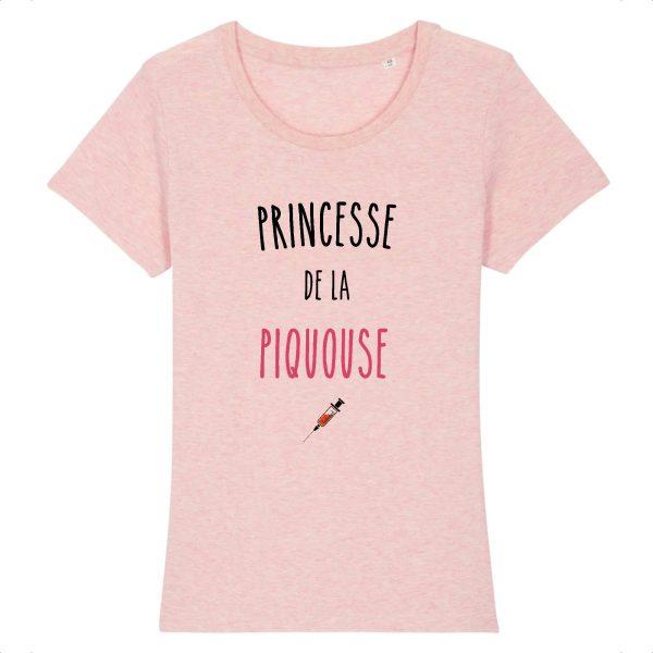 T-shirt infirmière – Princesse de la piquouse-rose