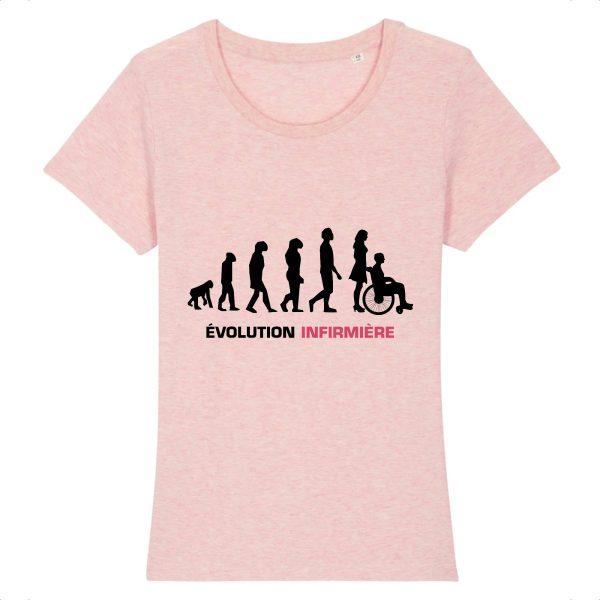 T-shirt infirmière - Infirmière évolution-rose