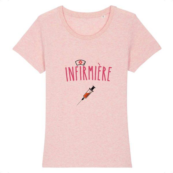T-shirt infirmière - Infirmière -rose