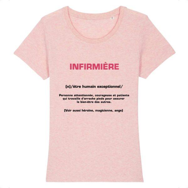 T-shirt infirmière – Infirmière signification-rose