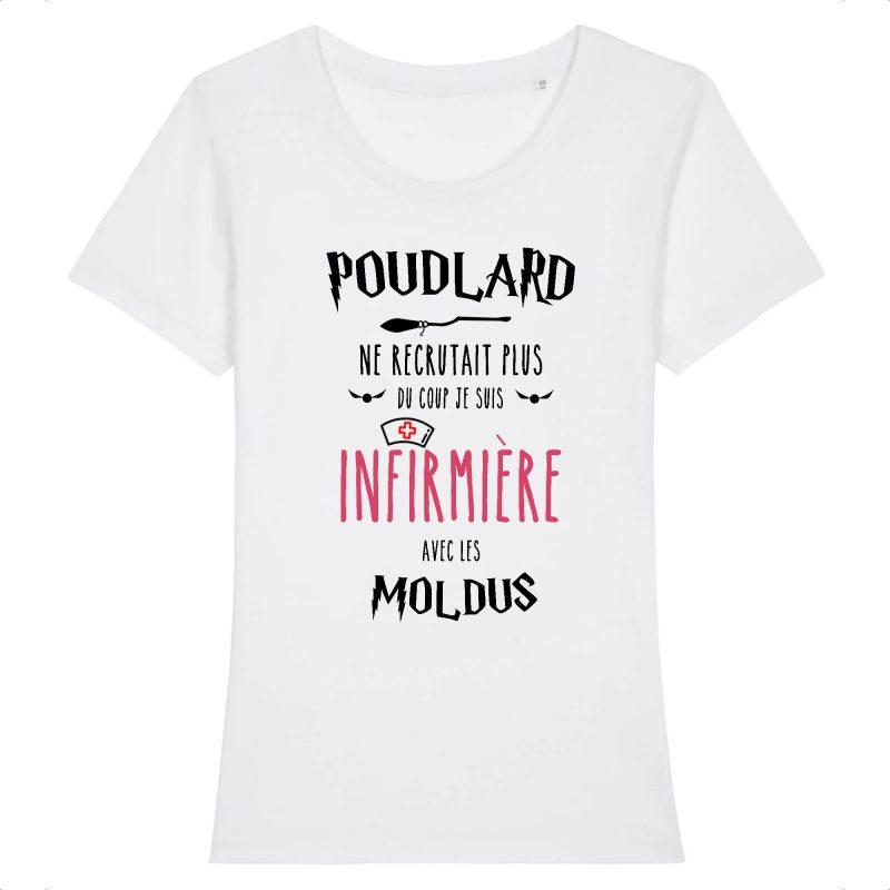 T-shirt infirmière - Poudlard ne recrutait plus du coup je suis infirmière avec les moldus