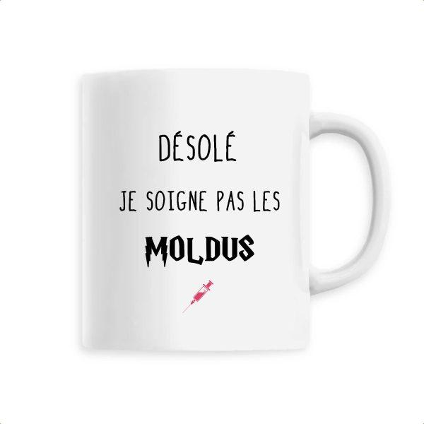 Mug infirmière - Désole je soigne pas les Moldus