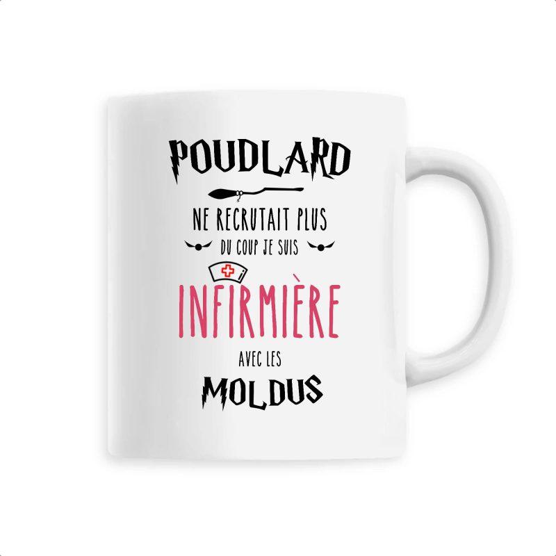 Mug Infirmière - Poudlard ne recrutait plus du coup je suis infirmière avec les moldus