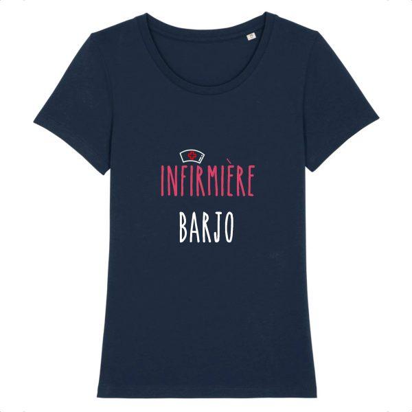 T-shirt infirmière – Infirmière barjo-marine
