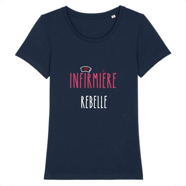 T-shirt infirmière – Infirmière rebelle-marine