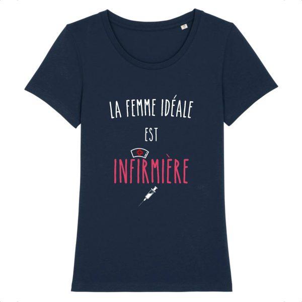 T-shirt infirmière – La femme idéale est infirmière-marine