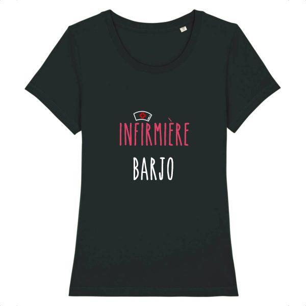 T-shirt infirmière – Infirmière barjo-noir