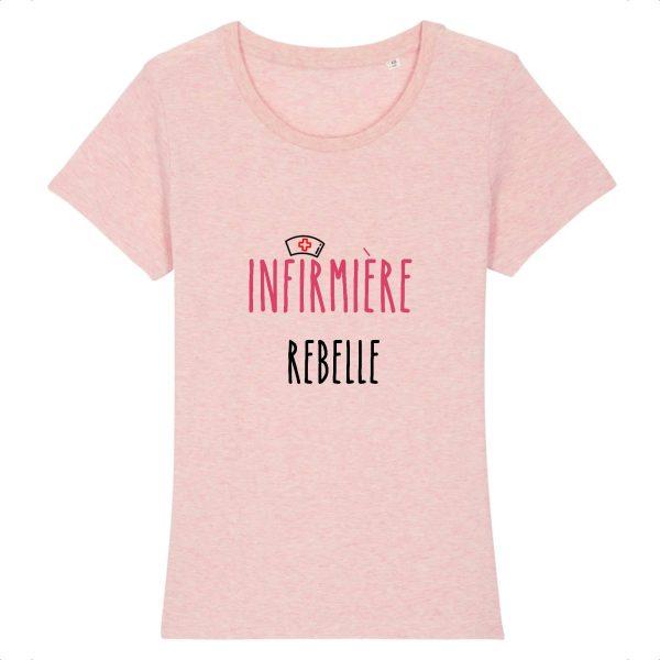 T-shirt infirmière – Infirmière rebelle-rose