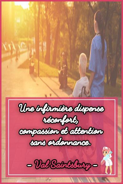 11-Une infirmière dispense réconfort compassion et attention sans ordonnance