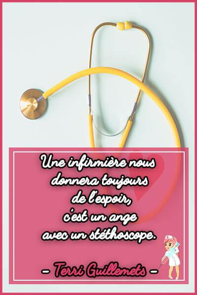 13-Une infirmière nous donnera toujours de l'espoir c est un ange avec un stéthoscope