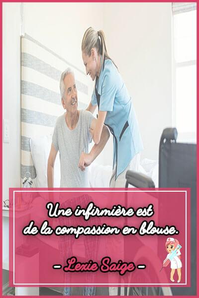 14-Une infirmière est de la compassion en blouse