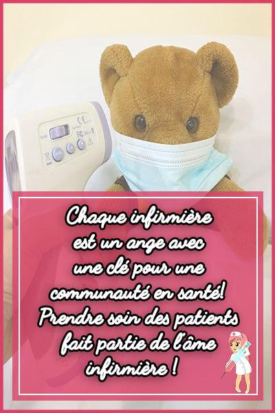 6-Chaque infirmière est un ange avec une clé pour une communauté en santé! Prendre soin des patients fait partie de l'âme infirmière