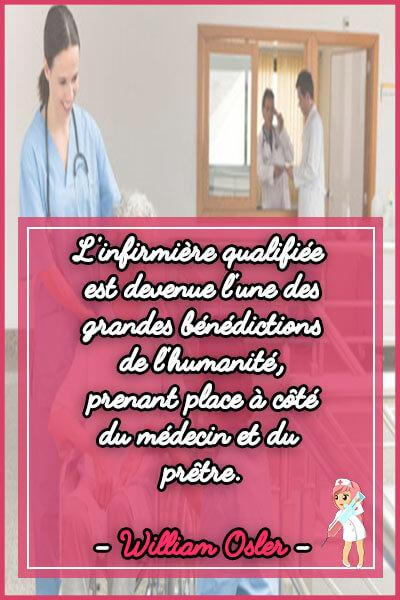 8-L'infirmière qualifiée est devenue l'une des grandes bénédictions de l'humanité, prenant place à côté du médecin et du prêtre
