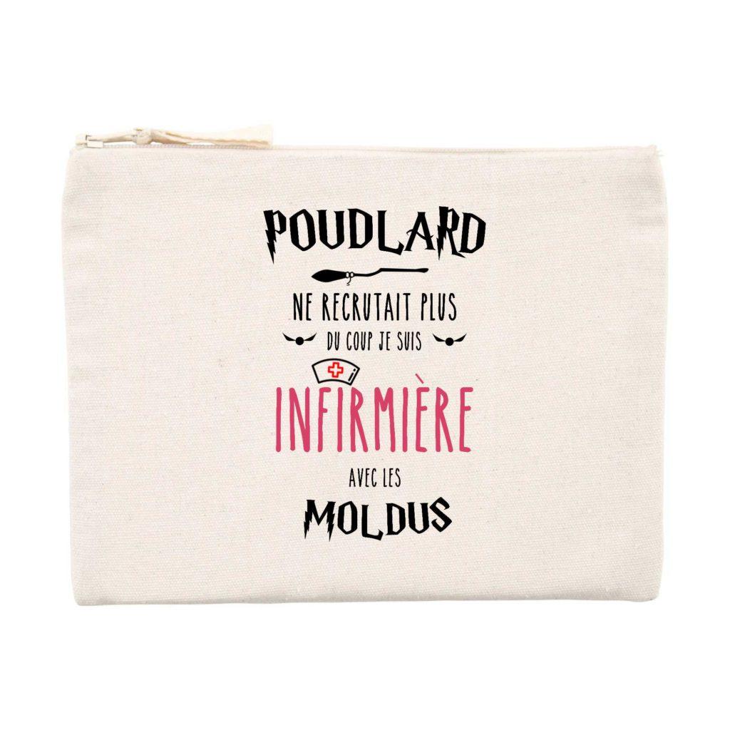 Pochette infirmière - Poudlard ne recrutait plus du coup je suis infirmière avec les Moldus