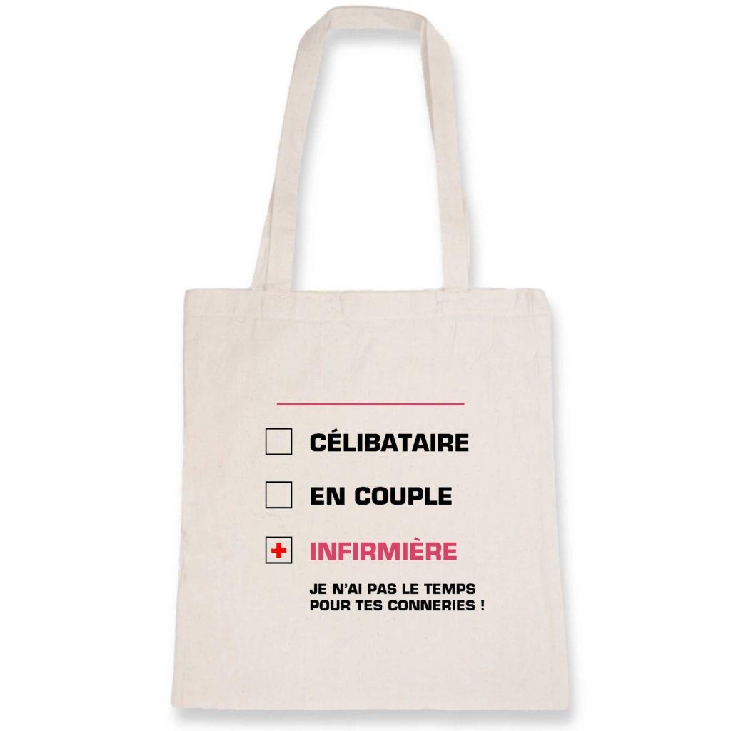 Tote bag infirmière - célibataire en couple infirmière