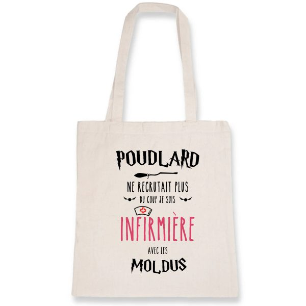 Tote bag infirmière - Poudlard ne recrutait plus du coup je suis infirmière avec les Moldus