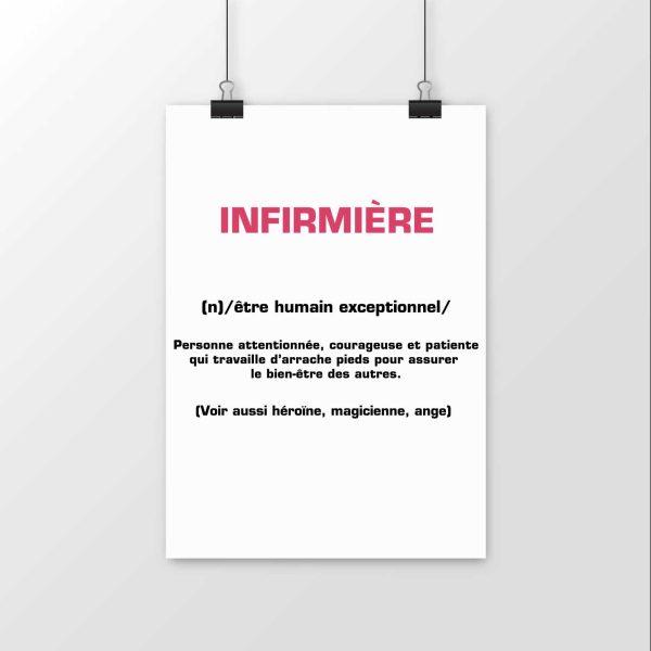 Affiche infirmière définition
