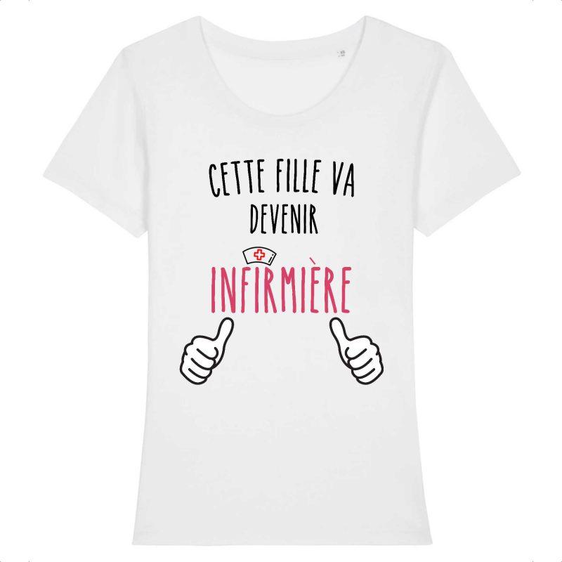 T-shirt infirmière – Cette fille va devenir infirmière