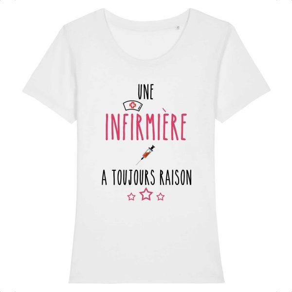 T-shirt infirmière - une infirmière a toujours raison