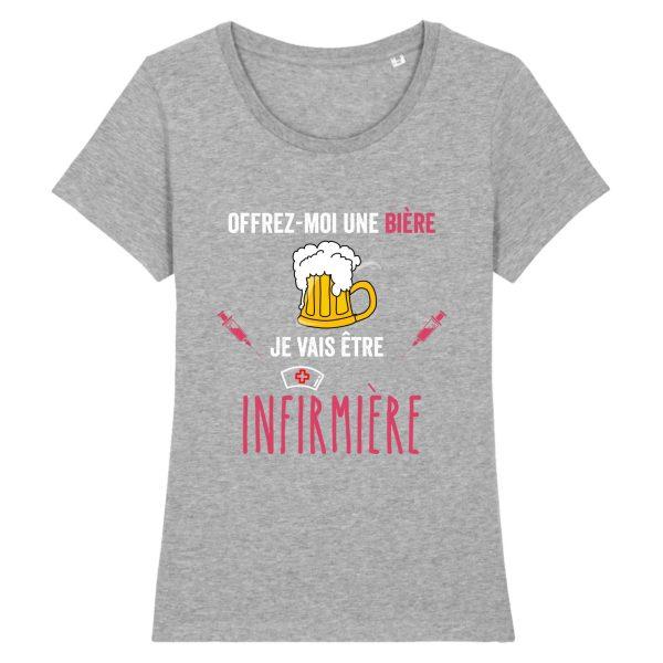 T-shirt infirmière – offrez moi une bière je vais être infirmière