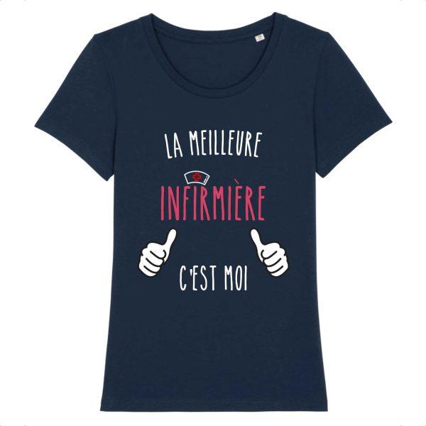 T-shirt infirmière – la meilleure infirmière c`est moi